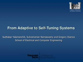 From Adaptive to Self-Tuning Systems