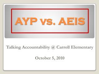 AYP vs. AEIS