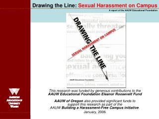Drawing the Line:  Sexual Harassment on Campus