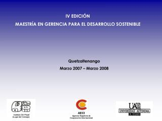 AECI Agencia Española de Cooperación Internacional