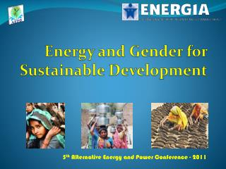 Energy and Gender for Sustainable Development