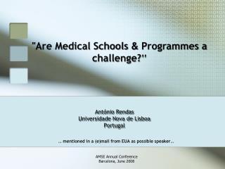António Rendas Universidade Nova de Lisboa Portugal
