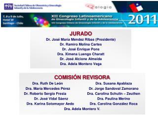 JURADO Dr. José María Mendez Ribas (Presidente) Dr. Ramiro Molina Cartes Dr. José Enrique Pons