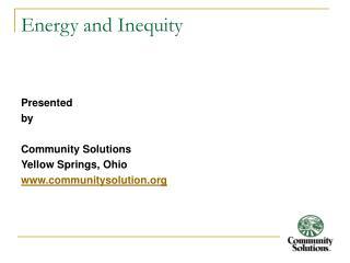 Energy and Inequity