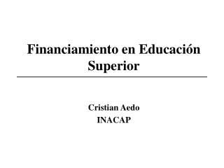 Financiamiento en Educación Superior