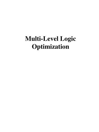 Multi-Level Logic Optimization
