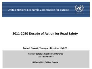 Robert Nowak, Transport Division, UNECE