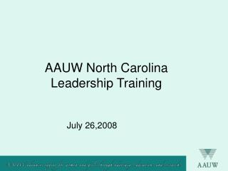 AAUW North Carolina Leadership Training