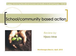School/community based action