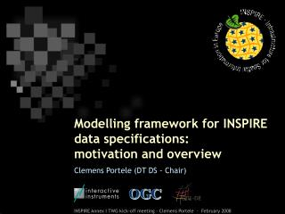 Modelling framework for INSPIRE data specifications:  motivation and overview