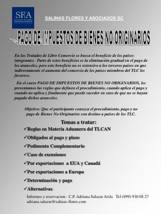 SALINAS FLORES Y ASOCIADOS SC