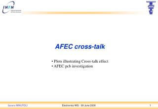 AFEC cross-talk