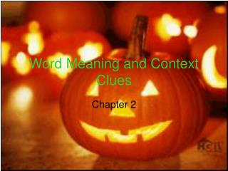 Word Meaning and Context Clues