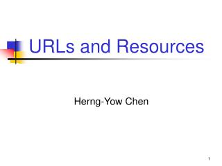 URLs and Resources