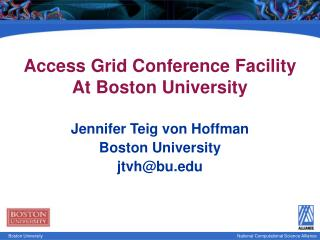 Access Grid Conference Facility At Boston University