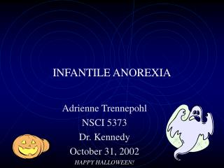 INFANTILE ANOREXIA