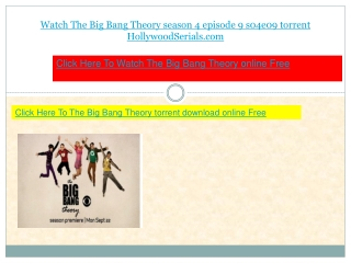 watch The Big Bang Theory s04e09 season 4 episode 9 download