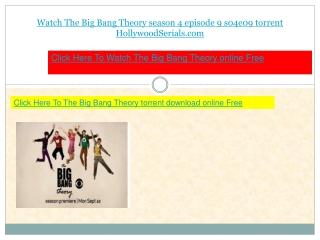 watch The Big Bang Theory s04e09 season 4 episode 9 download