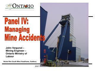John Vergunst – Mining Engineer – Ontario Ministry of Labour