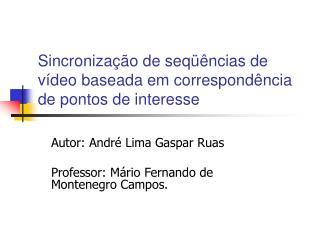 Sincronização de seqüências de vídeo baseada em correspondência de pontos de interesse