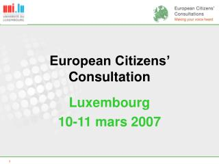 European Citizens' Consultation