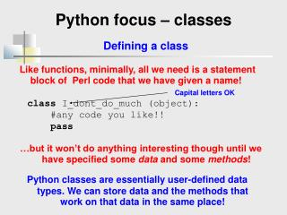 Python focus – classes