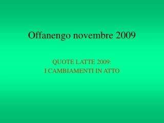 Offanengo novembre 2009