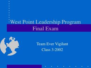 West Point Leadership Program Final Exam