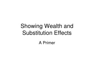 Showing Wealth and Substitution Effects