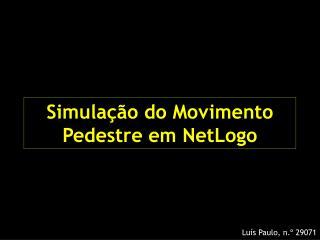 Simulação do Movimento Pedestre em NetLogo