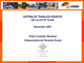SISTEMA DE TRABAJOS PESADOS  DE LA LEY Nº 19.404 Noviembre 2007