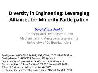 Diversity in Engineering: Leveraging Alliances for Minority  Participation