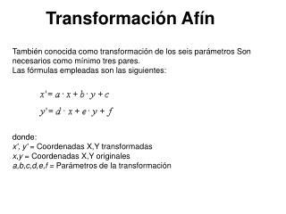 Transformación Afín