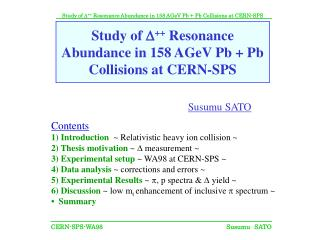 Study of  D ++  Resonance Abundance in 158 AGeV Pb + Pb Collisions at CERN-SPS