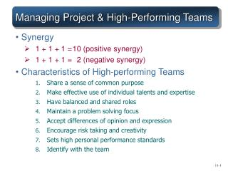 Managing Project  High-Performing Teams