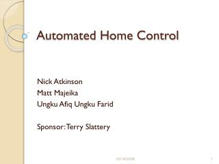 Automated Home Control