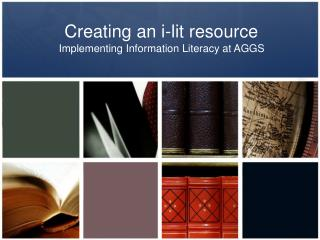 Creating an i-lit resource
