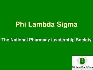 Phi Lambda Sigma