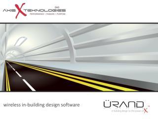 wireless in-building design software