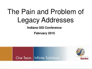 The Pain and Problem of Legacy Addresses