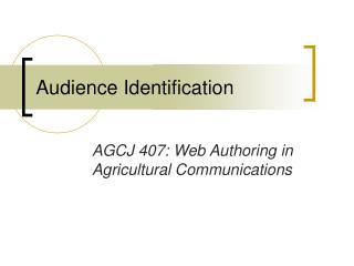 Audience Identification