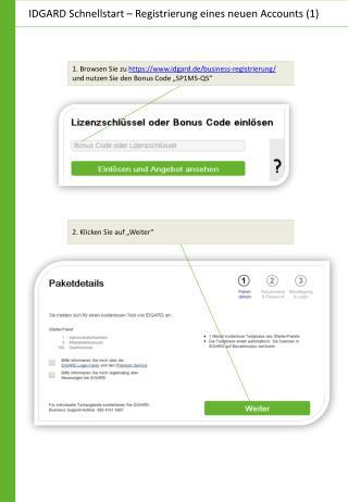 IDGARD Schnellstart – Registrierung eines neuen Accounts (1)