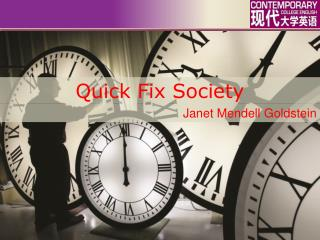 Quick Fix Society