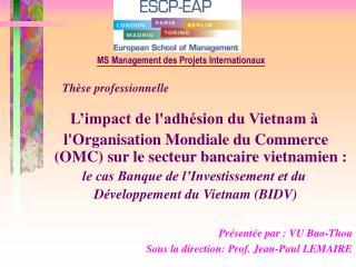 Thèse professionnelle L'impact de l'adhésion du Vietnam à