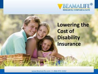 Lowering the Cost of Disability Insurance