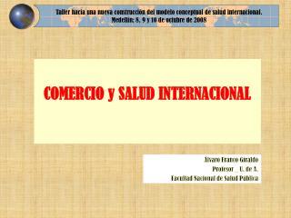 COMERCIO y SALUD INTERNACIONAL