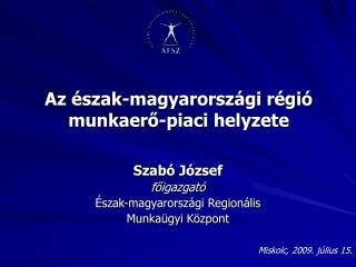 Az észak-magyarországi régió munkaerő-piaci helyzete