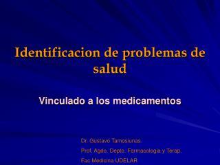 Identificacion de problemas de salud