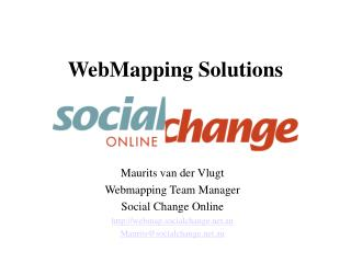 WebMapping Solutions
