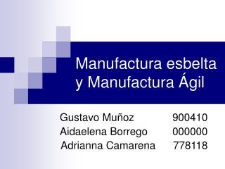 Manufactura esbelta y Manufactura Ágil